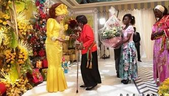 cérémonie de remise des voeux à la première dame chantal biya