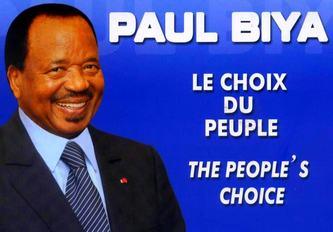 affiche de campagne de biya lors des élections présidentielles de 2011