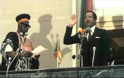 investiture de Paul Biya le 06 Novembre 1982, après la démission de Ahidjo.