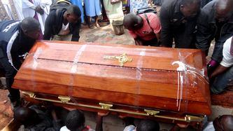 enterrement du cercueil