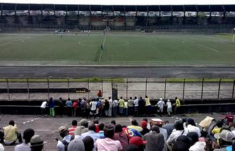 maigre public devant un match du championnat de football