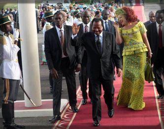 Paul Biya et son épouse Chantal Biya, de retour d'un séjour privé à l'étranger