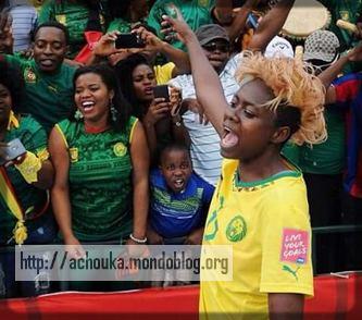 Gaelle Enganamouit, 1ère africaine à réaliser un triplé dans un Mondial