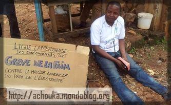 l'activiste Delor Magellan Kamga a utilisé la rue comme bureau de revendication