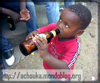 même les enfants acceptent la bière