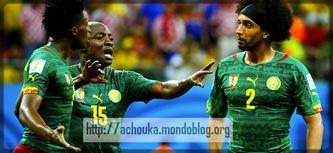 altercation entre Assou Ekotto et Benjamin Moukandjo pendant le Mondial 2014