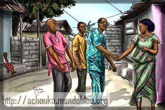 ça rigole beaucoup dans les sous-quartiers camerounais. Crédit: Sacha Ligths