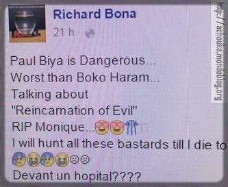 Richard Bona insulte Paul Biya via son compte Facebook