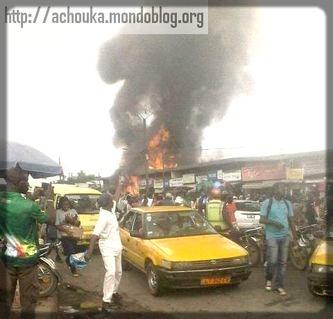 Incendie au marché Ndokoti à cause des branchements électriques anarchiques
