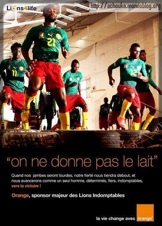 Orange Cameroun a été sponsor des Lions Indompables (c) Lions4Life