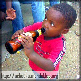 Certains enfants consomment déjà la bière
