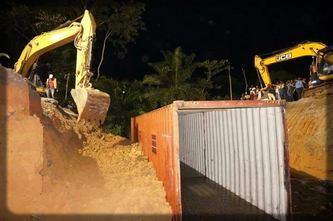travaux de réparation de la route Douala-Yaoundé