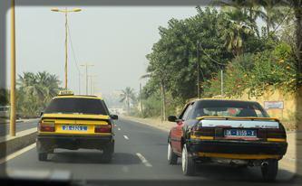 circulation de taxis au Sénégal