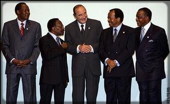 Chirac et les présidents d'Afrique centrale