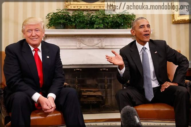 Obama et Donald Trump
