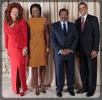 les couples Biya et Obama