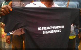 t-shirt de revendication anglophone