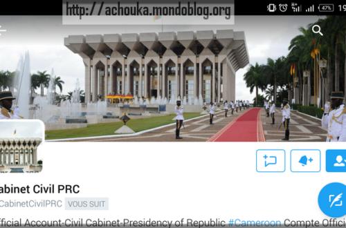 Article : Le Cabinet civil me (pour)suit sur Twitter