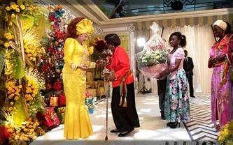 cérémonie de remise des vœux à Chantal Biya