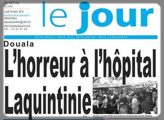 le journal Le Jour titre sur le cas Monique Koumatékel