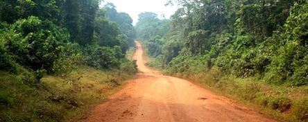 route non goudronnée