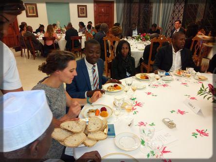 dîner chez l'ambassadeur de France au Cameroun