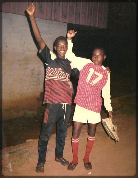 Ecclésiaste Deudjui et Limaleba Franck William en tenue de sport