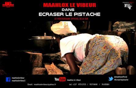 """pochette du single de Maahlox """"écraser le pistache"""""""