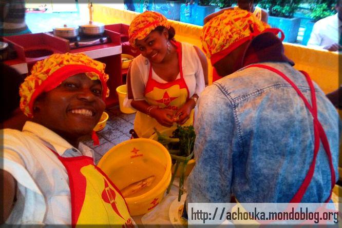 Ecclésiaste Deudjui et Crescence Elodie Nonga à Nestlé Cameroun