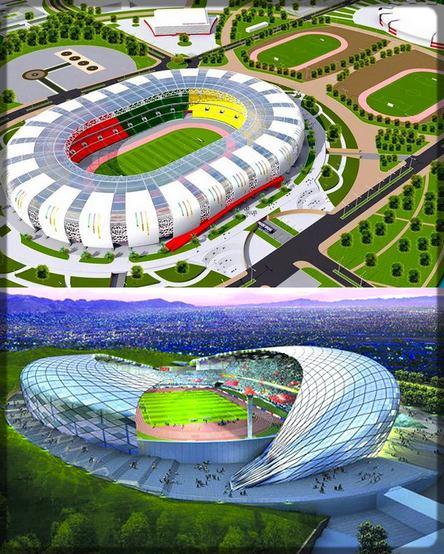 les maquettes des stades de la CAN 2019 à Yaoundé et Douala
