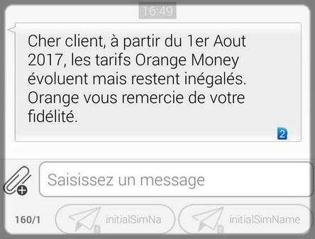 sms orange cameroun