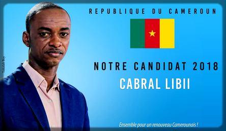 affiche Cabral Libii président
