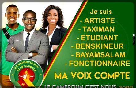 affiche du CCN pour inciter le peuple camerounais à s'inscrire sur les listes électorales