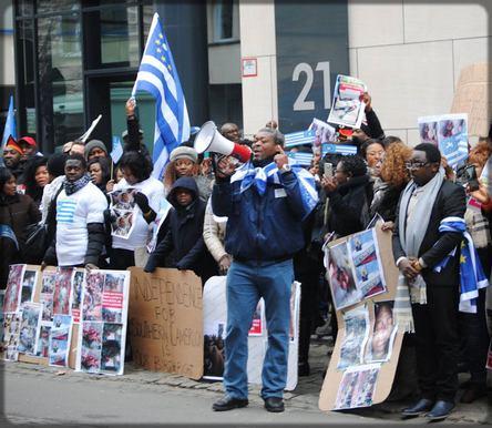 des manifestations pour l'indépendance de l'Ambazonie