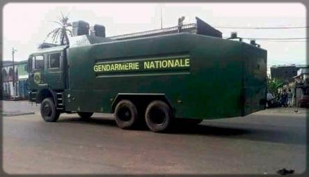 camion anti-émeute de la Gendarmerie camerounaise