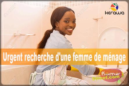 annonce de recrutement de femmes de ménage
