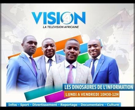 journalistes de Vision 4, dans l'émission Tour d'Horizon