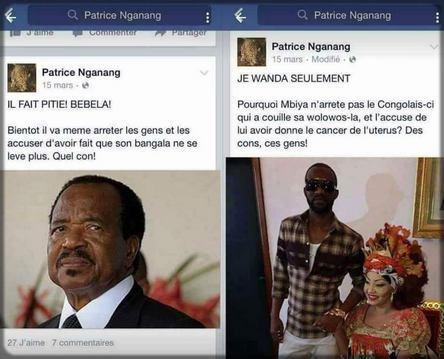 les publications de Patrice Nganang sur Facebook