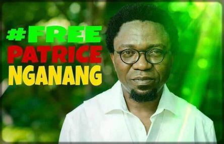 Une affiche réclamant la libération de Patrice Nganang