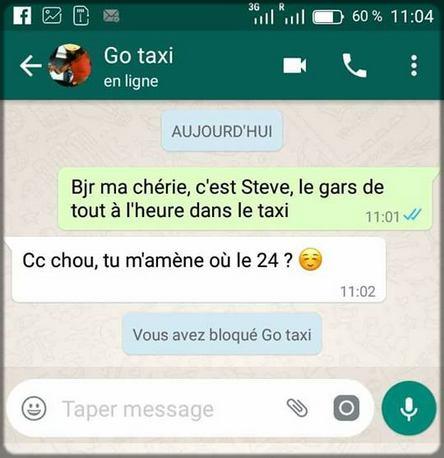 conversation WhatsApp avec les Camerounaises