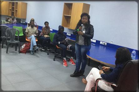 Minette Lontsie à l'IFC Douala