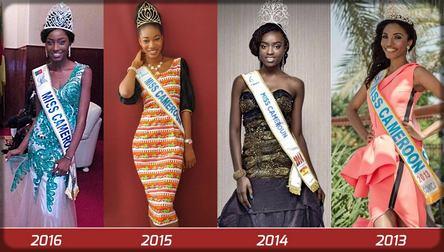 les miss cameroun de 2013 à 2016