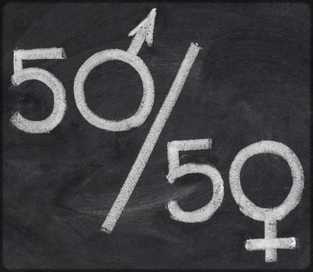 50% d'hommes et de femmes sur notre planète