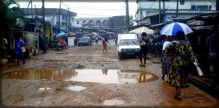 rue détériorées au Cameroun