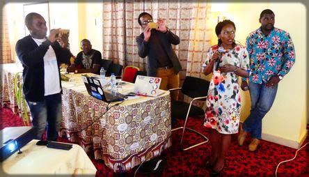 Emmanuelle Ngamva présente le nouveau site web de l'ABC