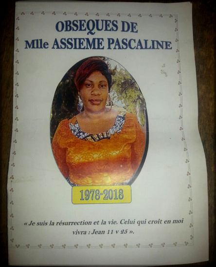faire-part Pascaline Assiémé