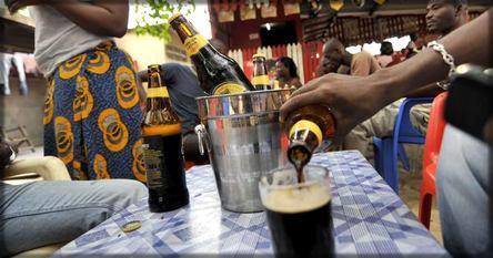 bouteilles de grande Guinness