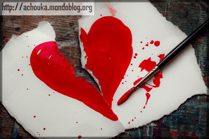 dessin d'un cœur déchiré