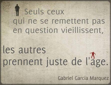 citation Gabriel Garcia Marquez sur la vieillesse