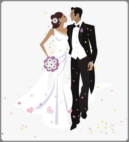 dessin mariage couple black